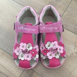 ca75a3aac Momo Grow Girl Toddler Sz 8 Floral Sandals Pink